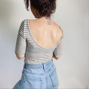 CLUB MONACO Wool/Cashmere Blend Scoop Back Tee